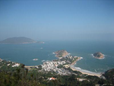 我们行的是港岛径第八段(龙脊),龙脊景色非常美丽,沿途见到很多识途
